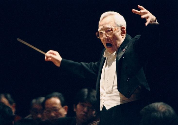 大阪フィルハーモニー交響楽団 創立名誉指揮者 朝比奈隆 (C)飯島隆