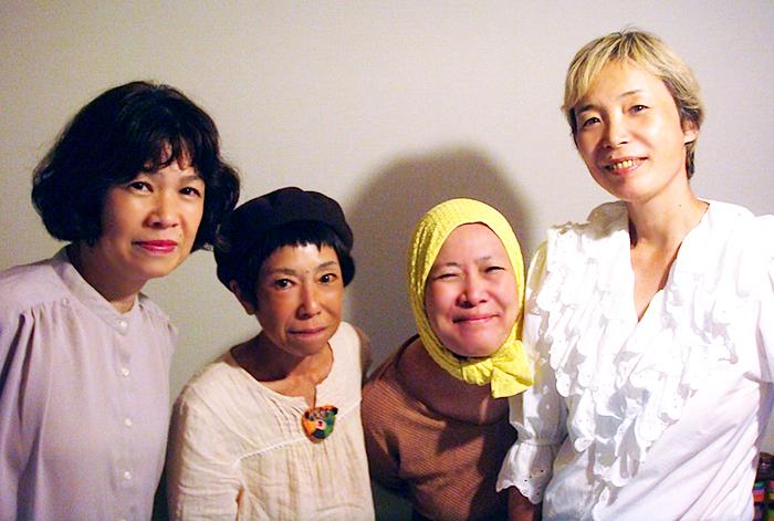 左から・マリリンマリィ、石丸だいこ、珠水、ZUN