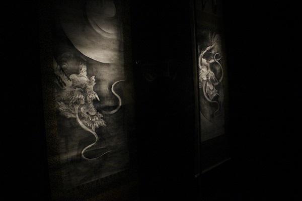 こちらも『雲龍図』の展示室
