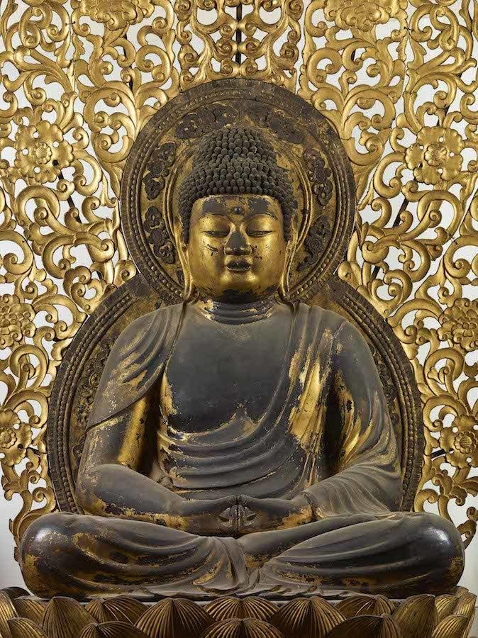 国宝「阿弥陀如来坐像」平安時代・仁和4年(888) 京都・仁和寺蔵