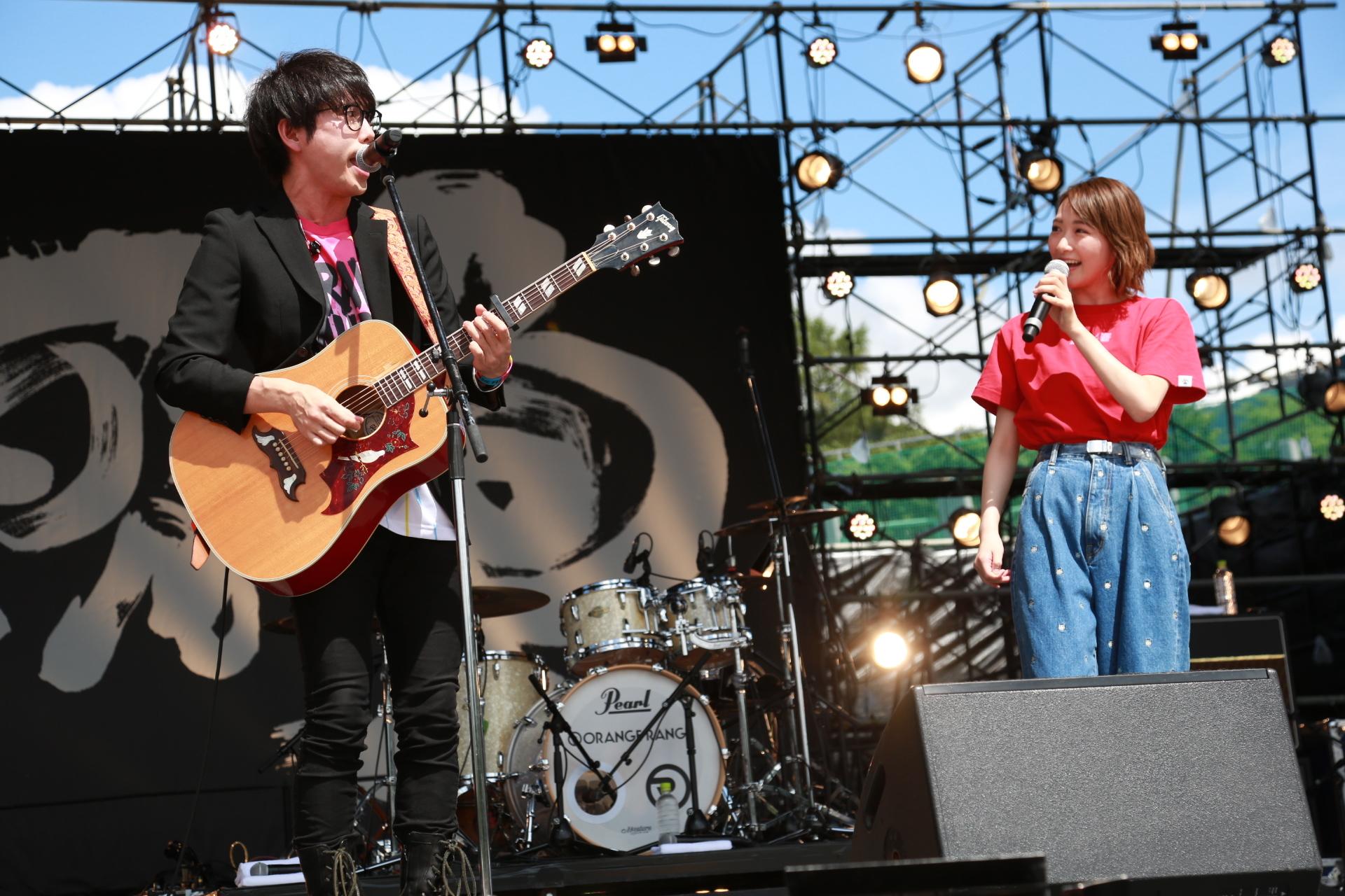 高橋優、生駒里奈『秋田CARAVAN MUSIC FES 2018』2018.9.2 撮影=新保勇樹