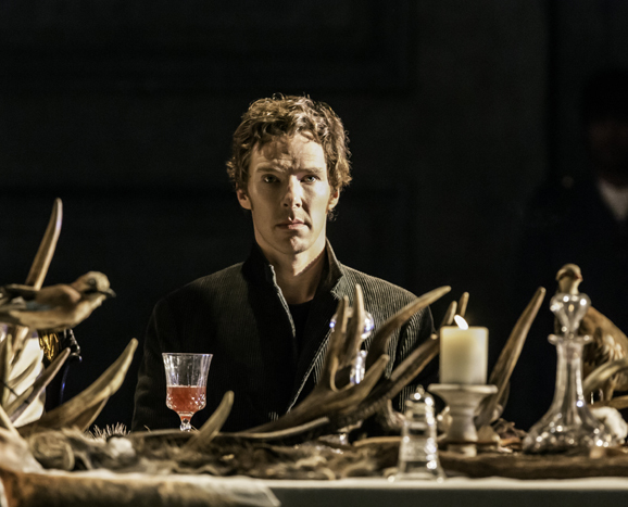Benedict Cumberbatch (Hamlet) in Hamlet at the Barbican Theatre. (Photo: Johan Persson)