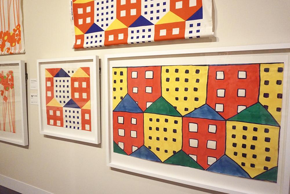 (右)図案《カリッカ》のためのインク画、脇阪克二、1975年