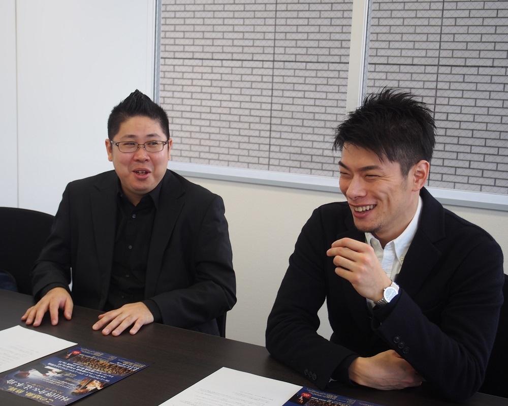 (左から)辻本玲、外山啓介