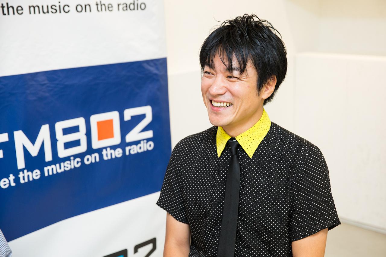 DJ飯室大吾(FM802) 撮影:森好弘