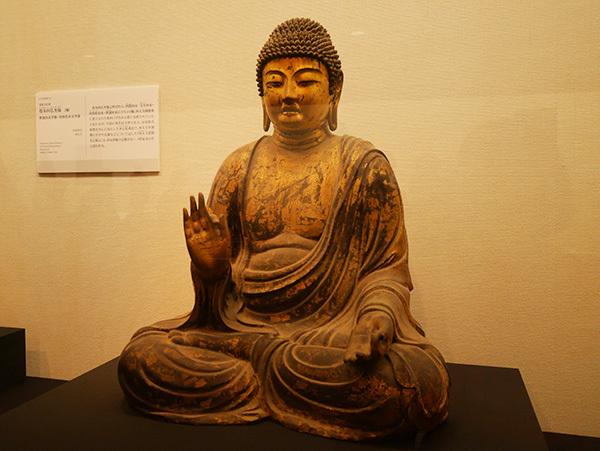 「塔本四仏坐像」より「阿弥陀如来坐像」(奈良時代、西大寺)