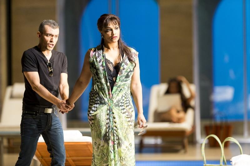 Danielle de Niese (Poppea), Filippo Mineccia (Ottone) Agrippina 2015/16 © Werner Kmetitsch(公式サイトより引用)