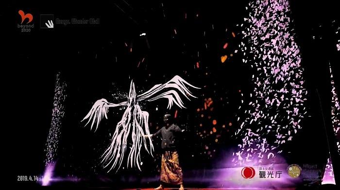 PHスクリーンイメージ/新宿御苑で行われた政府初の夜桜イベントの様子
