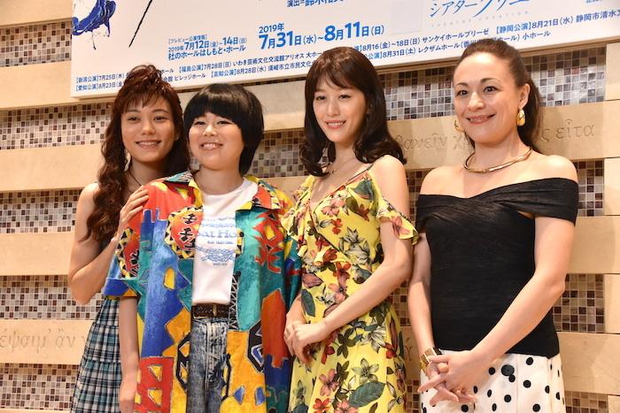鈴木杏、ブルゾンちえみ、花乃まりあ、シルビア・グラブ(左から)