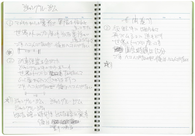 歌詞ノート