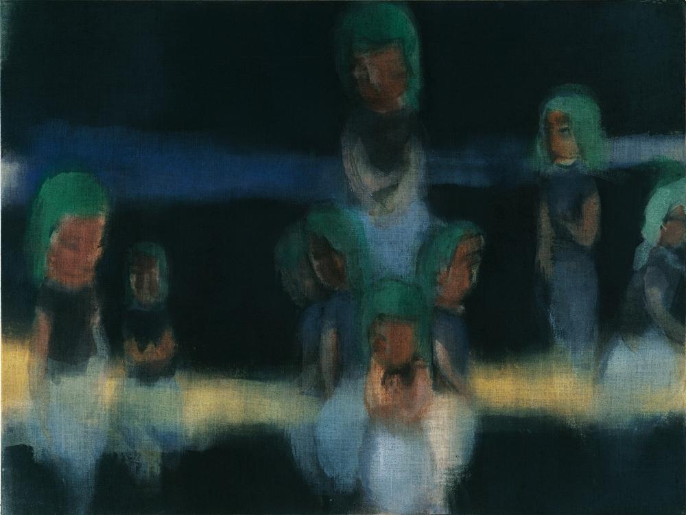 イケムラレイコ 《オーシャンIII》 2000/01 年 油彩/ジュート 120x160cm ヒルティ美術財団