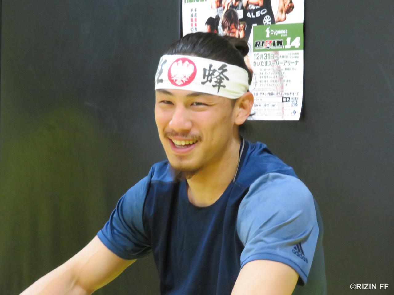 「総合格闘家としての完成度を高めるために時間をかけて準備をしてきた」と話す矢地祐介