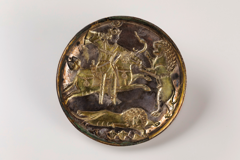 帝王狩猟文皿:サーサーン朝時代(6 ~7世紀)(MIHO MUSEUM)