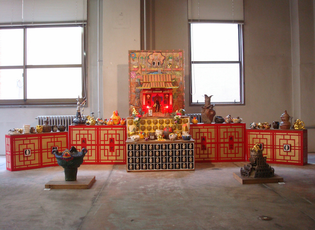 大津橋展示風景2  天竺(楊珪宋 設楽陸)《天竺大帝国太祖祭壇》
