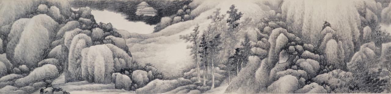 龔賢「山水長巻」清・17世紀(泉屋博古館)