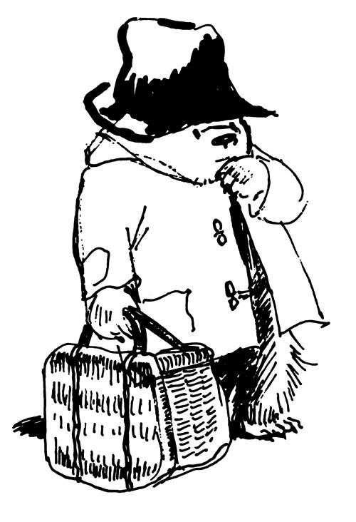 ペギー・フォートナム画 「パディントン」シリーズの挿絵(複製) Illustrated by Peggy Fortnum  (C) Paddington and Company Ltd 2018