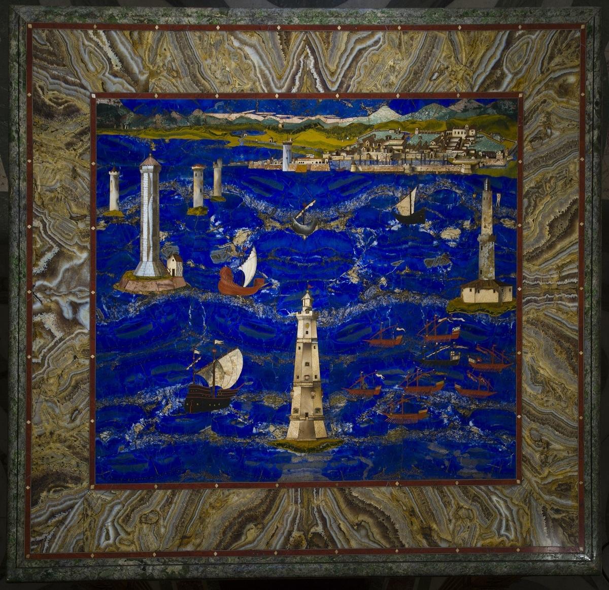 大公の工房、クリストーファノ・ガッフーリ(ヤコポ・リゴッツィの作品に基づく)《リヴォルノ港の景観》 1601-04年 ウフィツィ美術館 © Gabinetto Fotografico delle Gallerie degli Uffizi