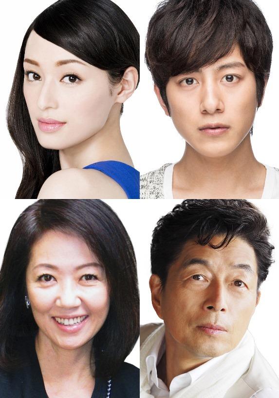 『ミッドナイト・イン・バリ』出演者。(左上から時計回りで)栗山千明、溝端淳平、中村雅俊、浅田美代子。