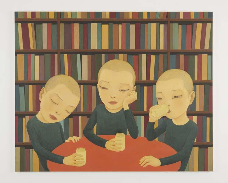 「Philosophy」 2018acrylic on canvas 130.7 x 162.0cm (C) Hideaki Kawashima