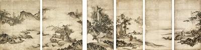 重要文化財 禅宗祖師図 狩野元信筆 六幅 室町時代 16世紀 東京国立博物館 Image:TNM Image Archives 【展示期間:9/16~10/23】(ただし展示替あり)
