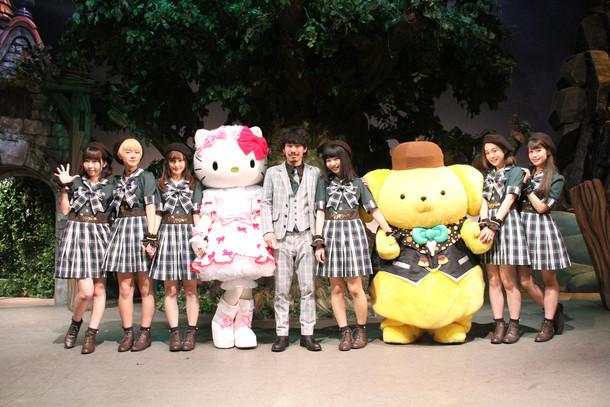 清 竜人25とハローキティ、ポムポムプリン。(写真提供:TOY'S FACTORY)(c)2015 SANRIO CO.,LTD.