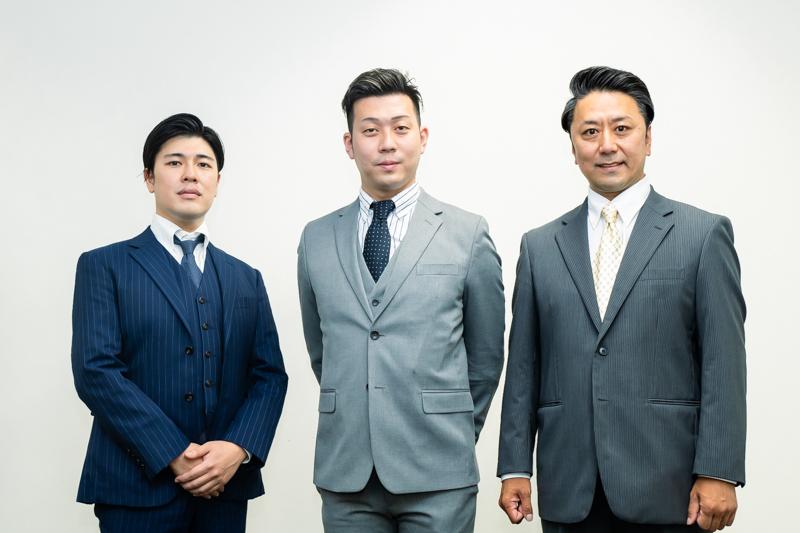 (左から)大谷廣松、中村児太郎、市川九團次