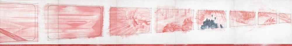 中村宏《車窓篇 TYPE11(ローズマッダー残像)》1982年