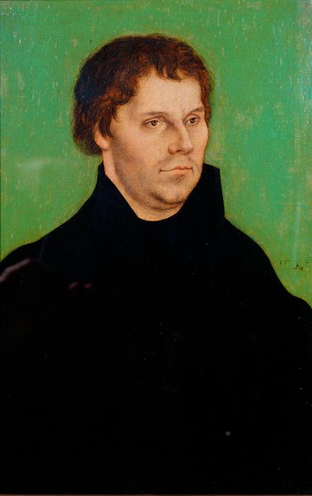 ルカス・クラーナハ(父)《マルティン・ルターの肖像》  1525年 ブリストル市立美術館 © Bristol Museums,Galleries&Archives