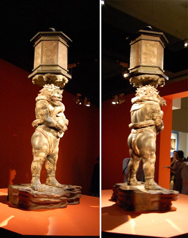 康弁作「龍燈鬼立像」(1215年、奈良・興福寺所蔵)