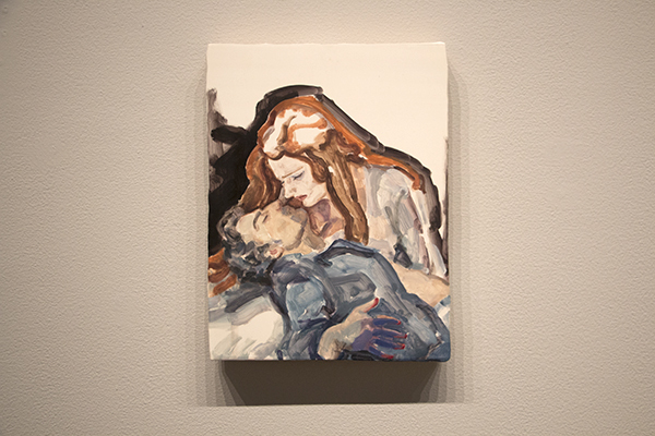 """Parsifal(Jonas Kaufmann and Katarina Dalayman), NYC, 2013 板に油彩 30.5 x 22.9cm 2013 Private Collection"