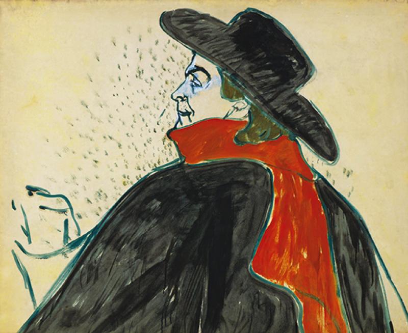 アンリ・ド・トゥールーズ=ロートレック 《アリスティド・ブリュアン》1893年 ひろしま美術館