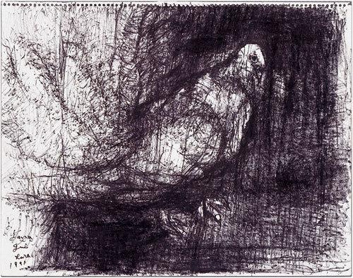 柳原義達《道標・鳩》1991年 碧南市藤井達吉現代美術館蔵