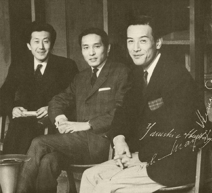 芥川也寸志、黛敏郎、團伊玖磨による「3人の会」の写真
