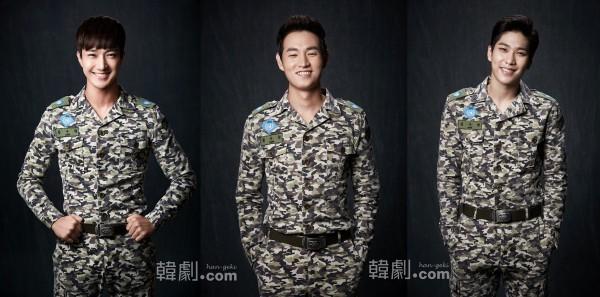 キム・スヒョク役のキム・スンデ(左)、カン・ジョンウ(中)、ヒョンソン(BOYFRIEND)