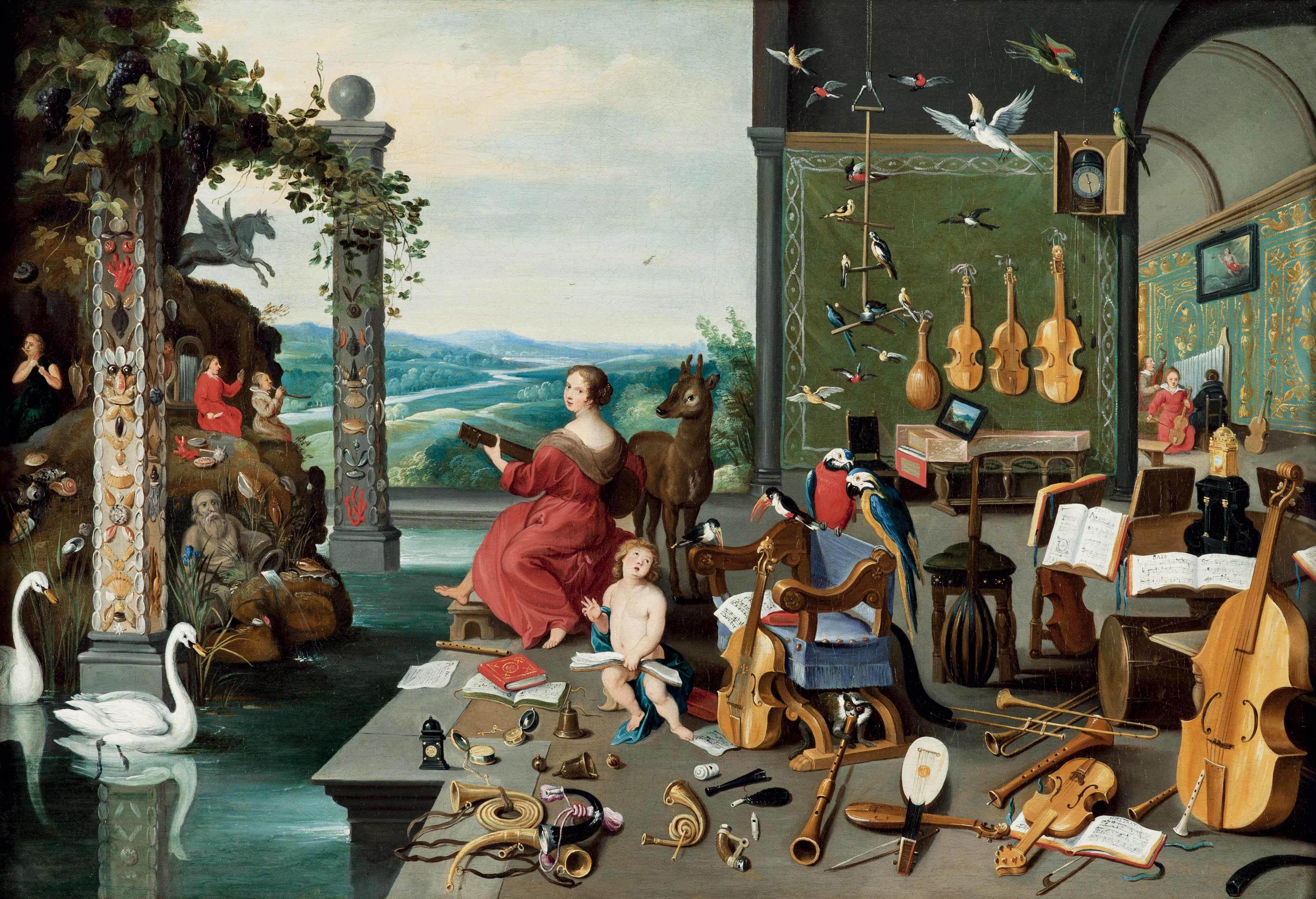 ヤン・ブリューゲル2世《聴覚の寓意》1645-1650年頃   Private Collection