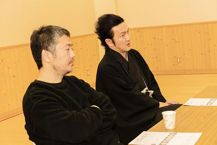 (左から)赤堀雅秋、中村獅童