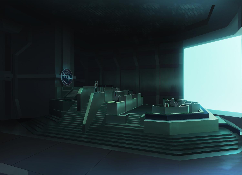 ボーダー基地司令部(オペレーションルーム) (C)葦原大介/集英社・テレビ朝日・東映アニメーション