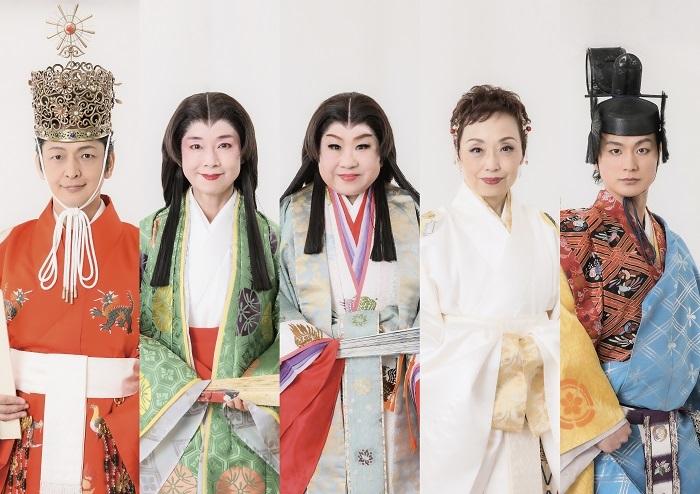 左から)岡田浩暉、土居裕子、天童よしみ、クミコ、日野真一郎(LE VELVETS)