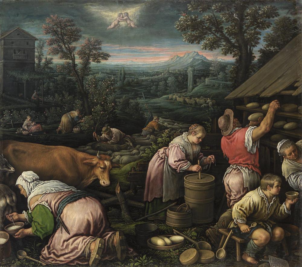 レアンドロ・バッサーノ (通称) 《5月》 1580-85 年頃 油彩・キャンヴァス