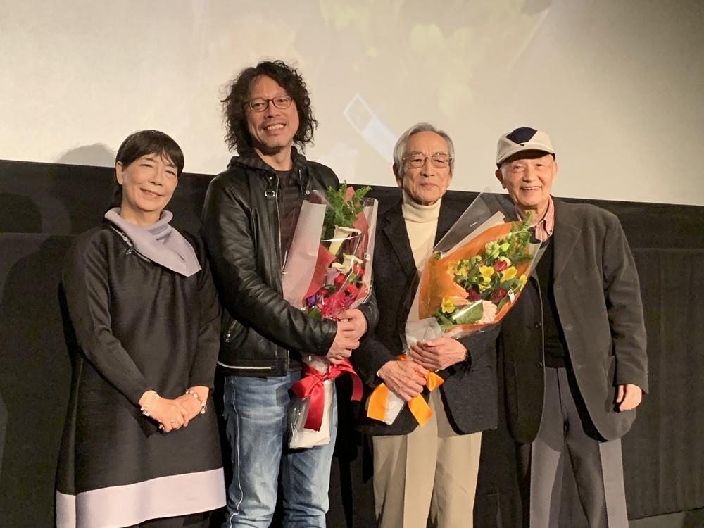 左から桜井浩子、浦沢直樹氏、飯島敏宏監督、西條康彦
