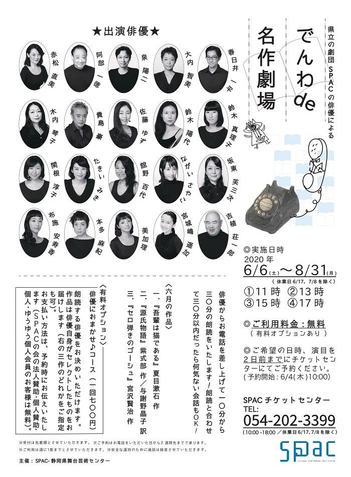 『でんわ de 名作劇場』 デザイン:佐藤里瀬(SPAC創作・技術部 衣裳班)