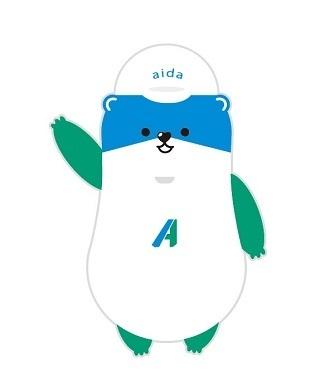アイダ設計のマスコットキャラクター「アイダ コツミくん」。ジャイアンツ戦に初登場!