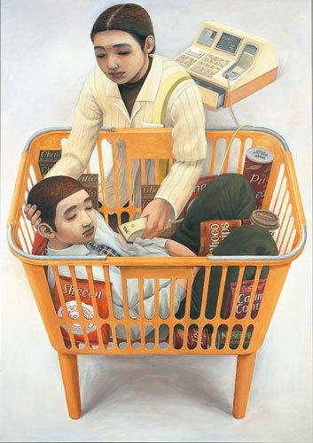 石田徹也《コンビニエンスストアの母子像》1996年