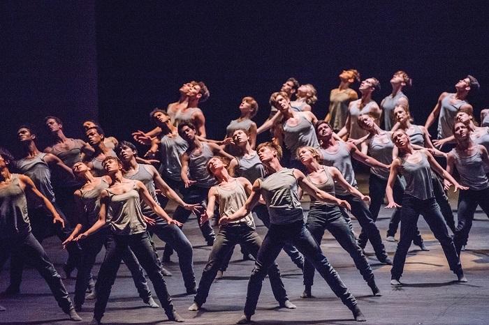 TRIPLE BILL. Artists of The Royal Ballet in Flight Pattern  (c) 2017 ROH. Photograph by Tristram Kenton