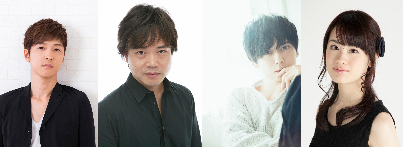 左から、櫻井孝宏、中井和哉、梶 裕貴、瀬戸麻沙美