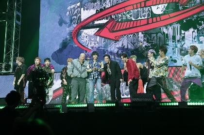 山田裕貴、一ノ瀬ワタル、数原龍友のサプライズ出演!炎!ライブ! 5万人が熱狂した『HiGH&LOW THE WORST VS THE RAMPAGE』
