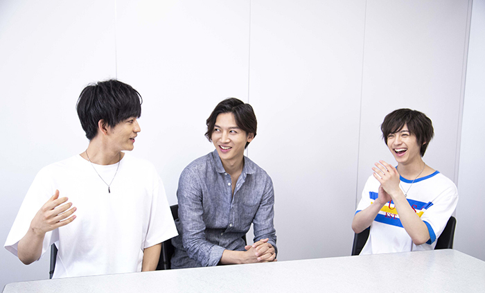 (左から)林勇輝、金井成大、阿久津仁愛
