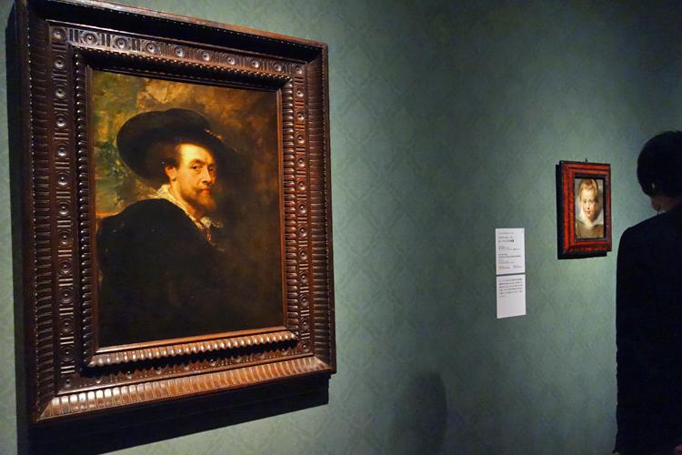 ルーベンス作品の模写《自画像》フィレンツェ、ウフィツィ美術館