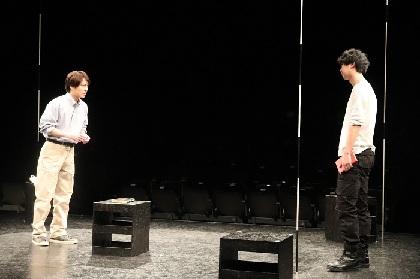 """鈴木勝秀×る・ひまわり第3弾公演 人間の""""危うさ""""を描く二人芝居『ウエアハウス-double-』公開舞台稽古レポート"""