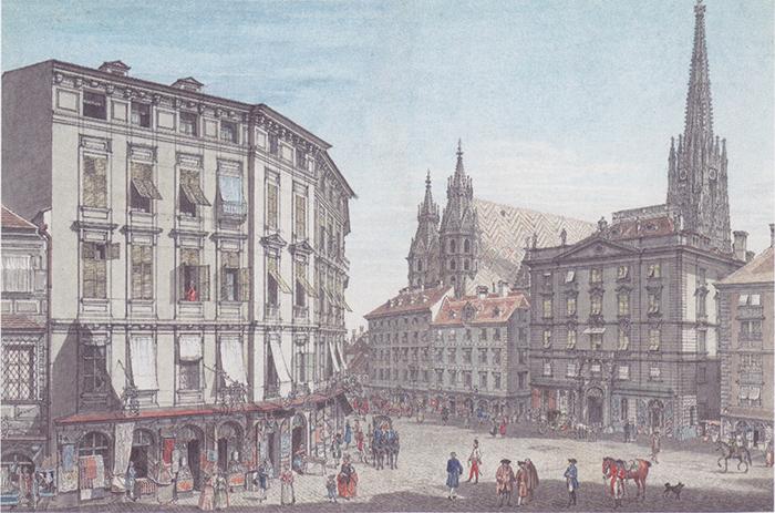 カール・シュッツ画「1779年のウィーン中心部」
